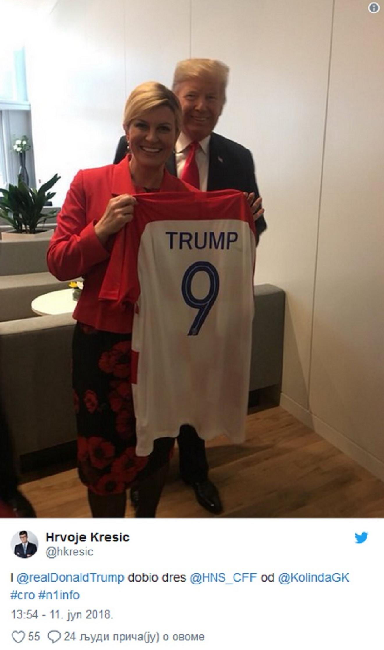 Predsednica Hrvatske sa predsednikom Amerike