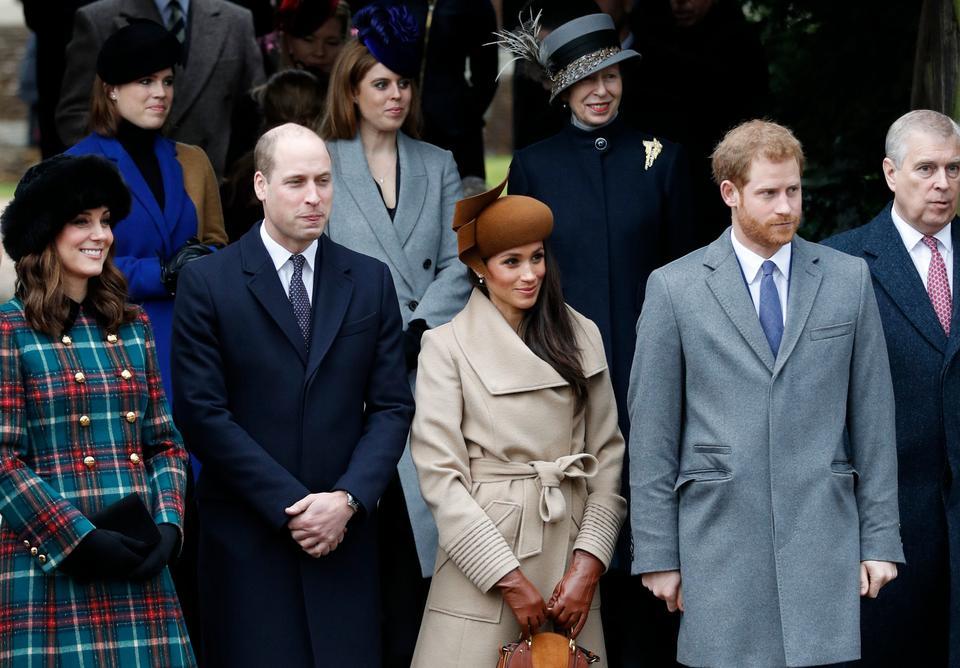 Księżna Kate, książę William, Meghan Markle i książę Harry