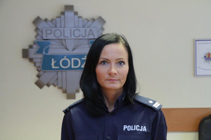 Joanna Kącka, policja w Łodzi