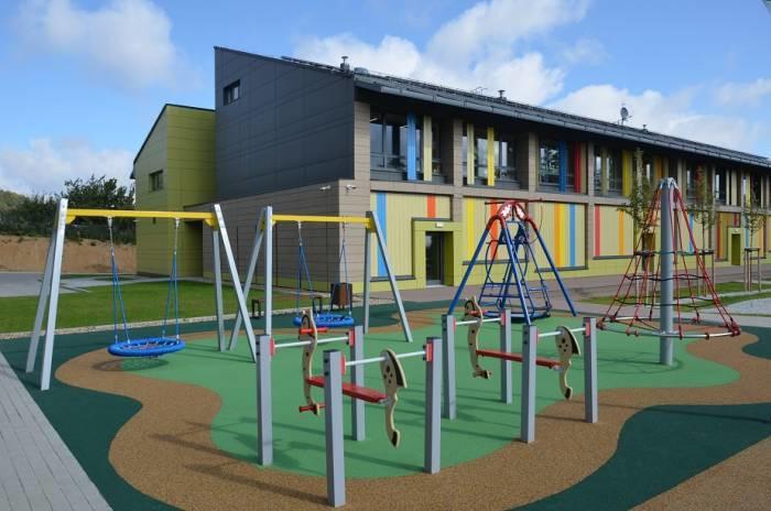 Otwarty w 2019 r. w Strzegomiu nowoczesny budynek przedszkola i żłobka o podwyższonych parametrach energetycznych