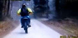 Kolejny motocyklista staranowany przez sierż. Karola S.: Wepchnął do rowu i skuł kajdankami