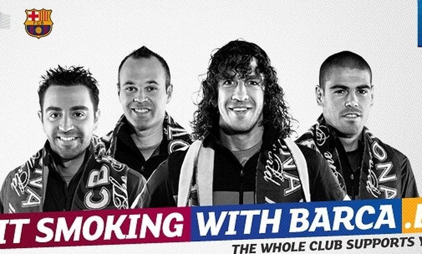 Piłkarze Barcelony zachęcają do rzucenia palenia