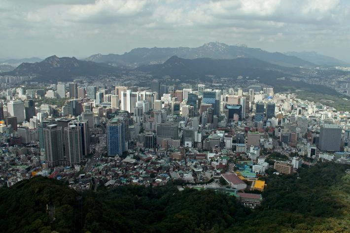 South Korea: Seoul city panorama