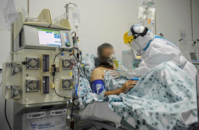 Kragujevac KC Kragujevac Klinika za pulmologiju Kovid intezivna nega RAS foto Nebojsa Raus05