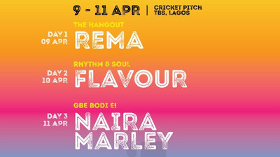 Rema, Flavour, and Naira Marley all set to perform at the 7th edition of West Africa's biggest music festival