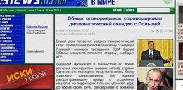 Skandal USA z Polską! Tak Rosjanie piszą o słowach Obamy