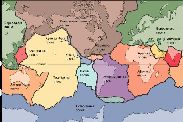 Na mapi tektonskih ploča vidi se kako se Afrička i Evroazijska ploča sudaraju baš u Jadranskom moru, kod Balkana