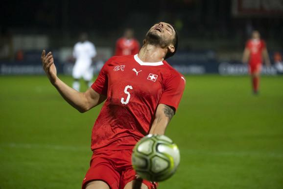 Očaj fudbalera Švajcarske posle poraza
