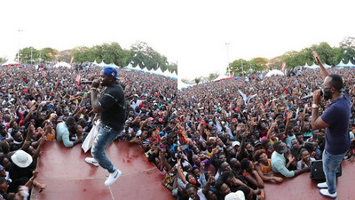 King Kaka, Tanasha and Khaligraph bring Mombasa to a standstill in Concert organized by Joho (Video)