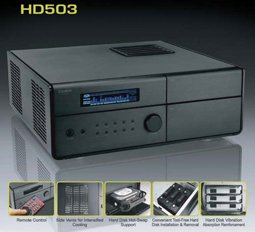 Obudowa typu Home Theater PC Zalman HD503