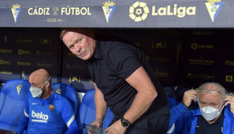 Ronald Koeman is on thin ice ahead of Barcelona's Champions League game away at Benfica on Wednesday. Creator: CRISTINA QUICLER