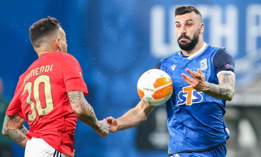 Lech Poznań przegrał z Benficą Lizbona w Lidze Europy