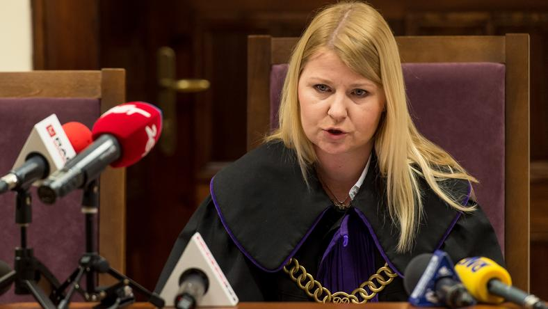 Sędzia Agnieszka Marchwicka na sali rozpraw