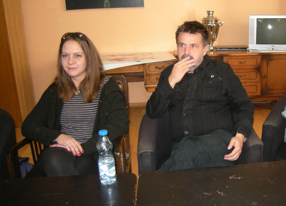 Scenograf i kostimograf Irena Marjanov i reditelj Miroslav Momčilović