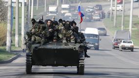 Świadkowie: opancerzone pojazdy z rosyjskimi flagami w Kramatorsku i Słowiańsku