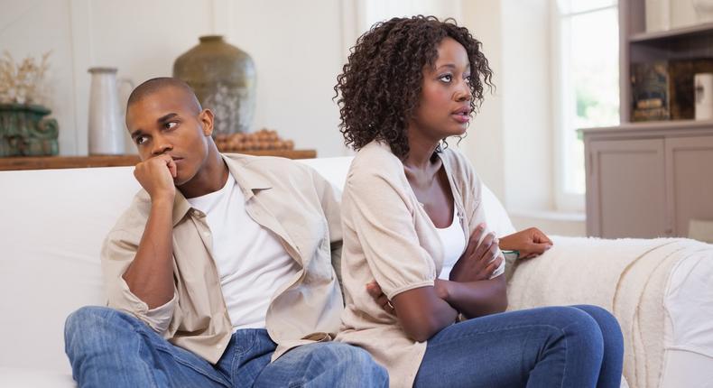 Black couples arguing (Pinterest)