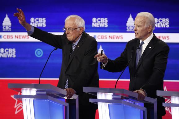Sanders i Bajden na demokratskoj debati