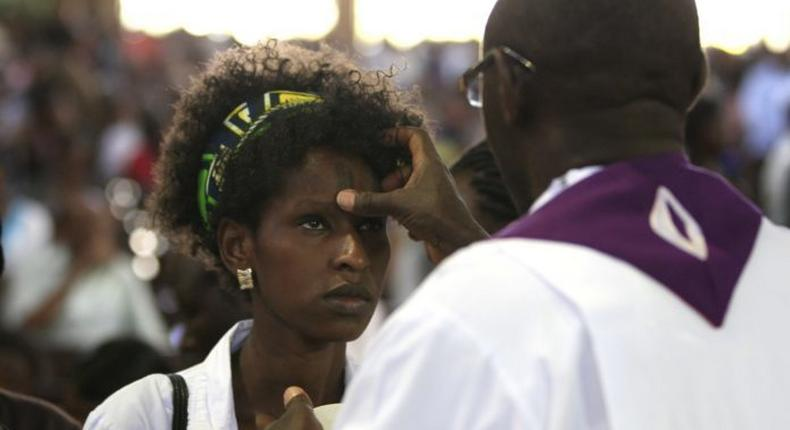 Catholics in Africa and the rest of the world are celebrating Ash Wednesday today (Reuters)