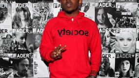 Kendrick Lamar z Dr. Dre i Pharrellem Williamsem