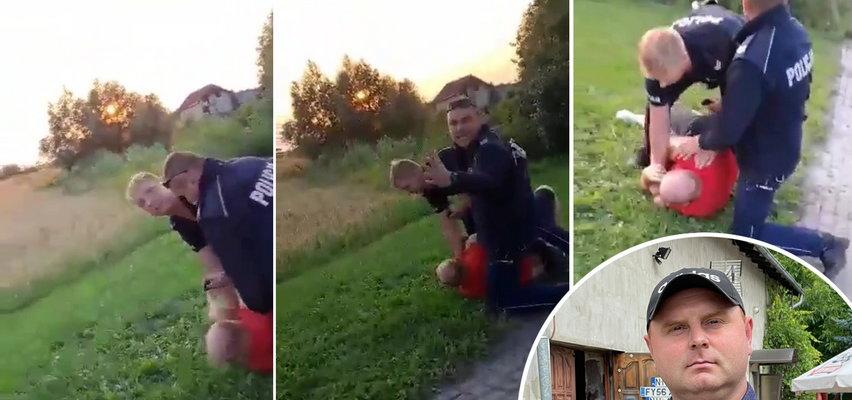Wielka draka w małej wsi. Sołtys Karasia zwrócił uwagę policjantom. I szybko tego pożałował. A rowerzystę chcieli wsadzić do bagażnika