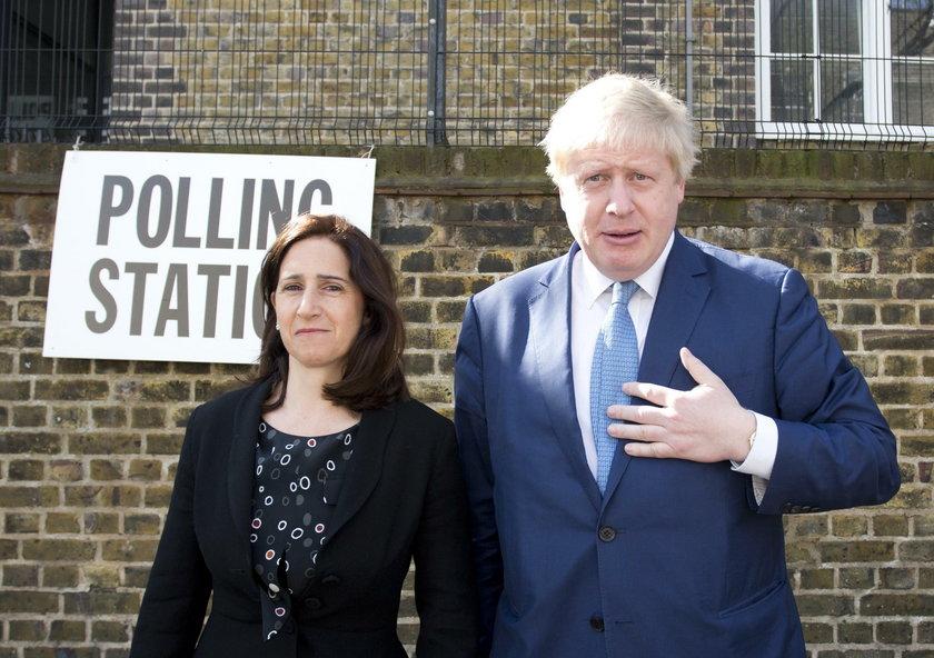 Boris Johnson z byłą żoną Mariną