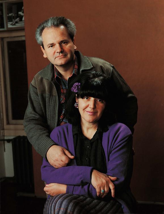 Milošević sa suprugom Mirom Marković