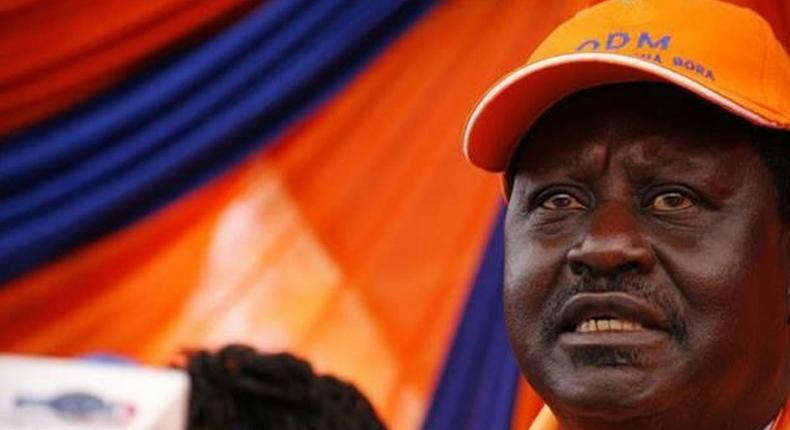 OdDM leader Raila Odinga