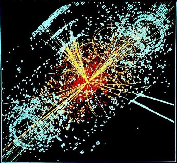 Simulirani model detektora čestica CMS na Velikom hadronskom sudaraču u CERN-u