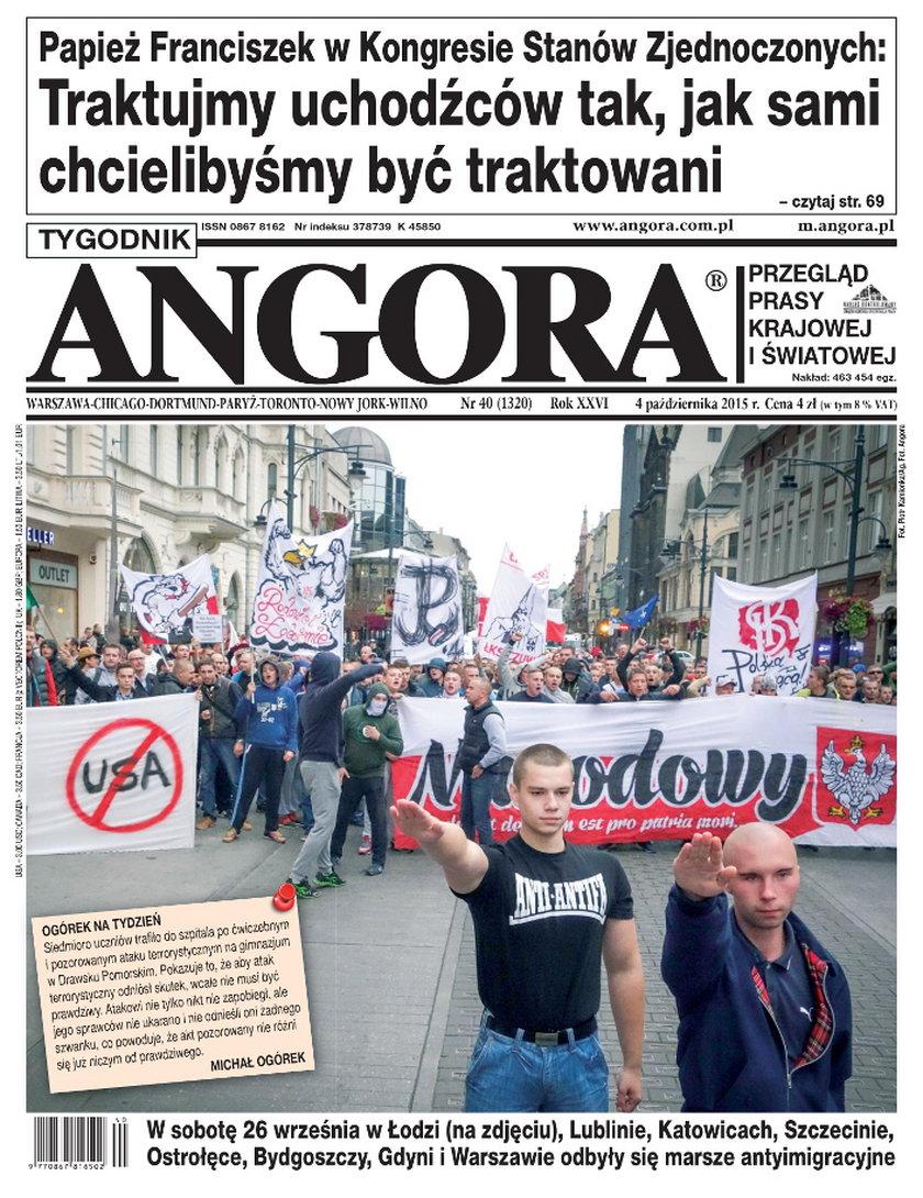 Szokująca okładka tygodnika Angora!