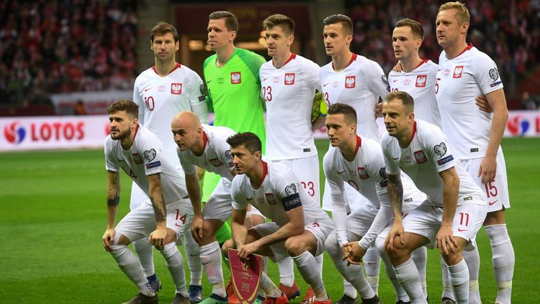 Reprezentacja Polski przed meczem z Łotwą (24 marca 2019)