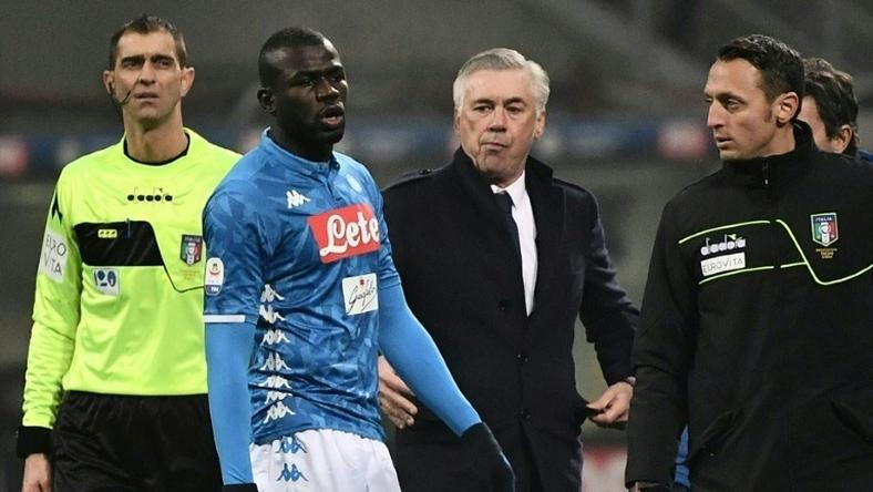 Senegalese defender Kalidou Koulibaly was targeted by monkey noises and racist chants in the San Siro on December 26