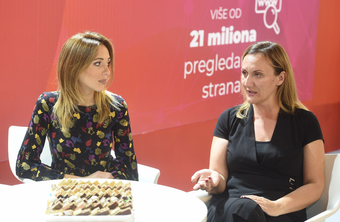 Glavna urednica Blic Žene Sandra Subotin u društvu blogerke Mile Vujisić