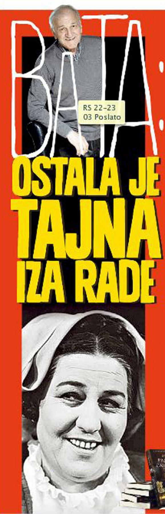 Bata Živojinović o Radmili Savićević