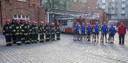 Krakowscy strażacy pojechali na Westerplatte