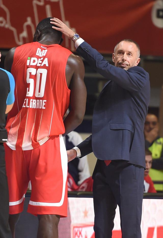 Milan Tomić i Majkl Odžo na meču protiv Ulma