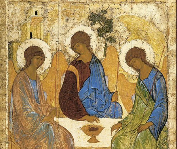 Fragment ikony Trójcy świętej autorstwa Andreja Rublowa z początku XV wieku; jedna z najpopularniejszych ikon prawosławnych