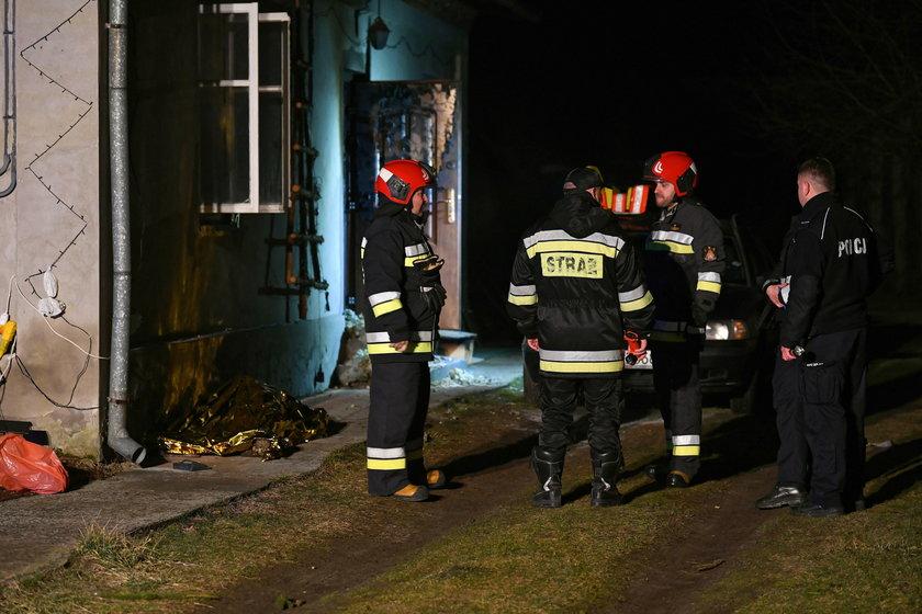 Makabryczny pożar budynku w Leżachowie