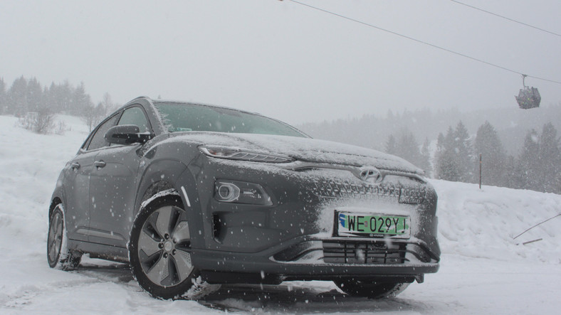 Hyundai Kona Electric – test zimowy