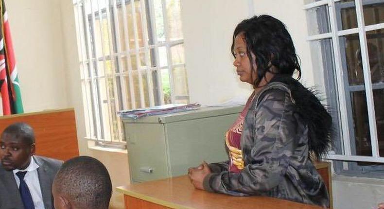 Grace Kanamu Namulo, a suspect in the murder of actor Jamal Gaddafi
