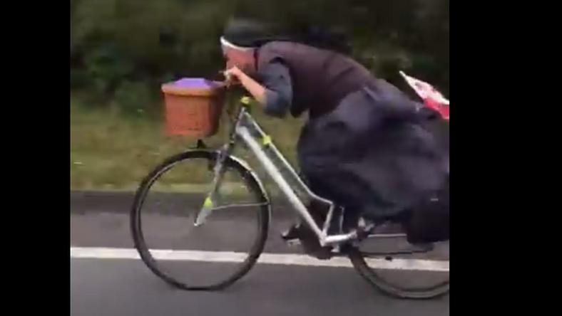 Zakonnica rozwinęła na rowerze prędkość 67 km/h