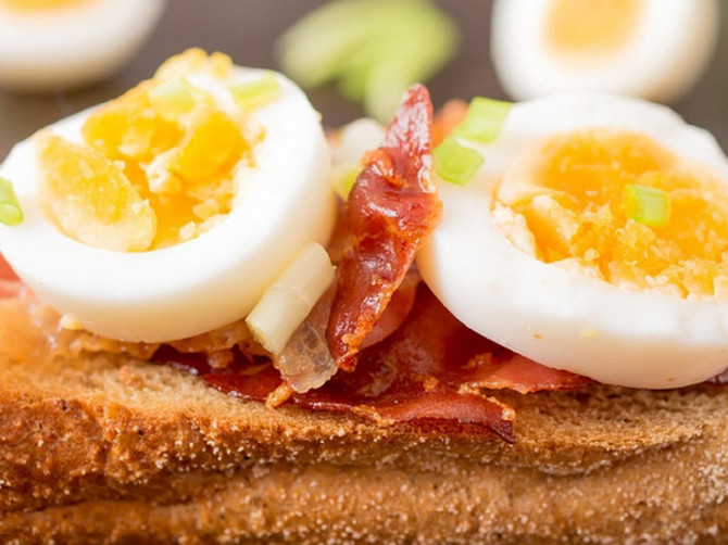 Jaja i slanina jseu dobar izbor