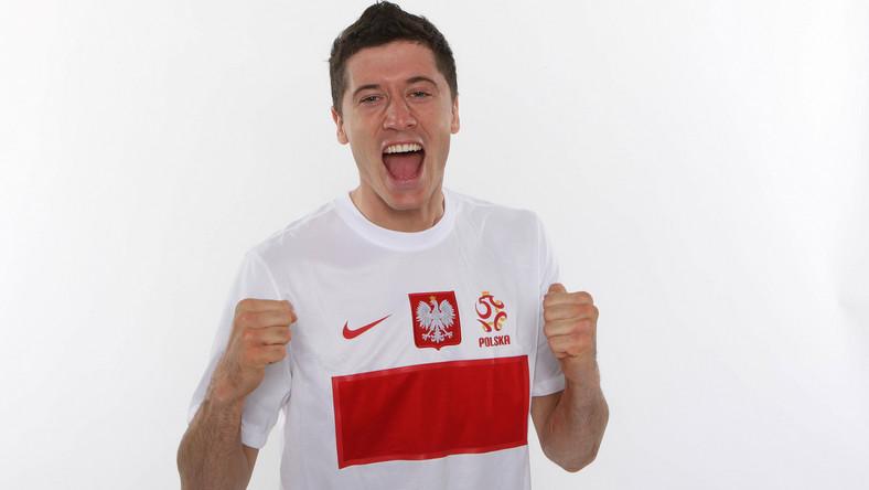 Piłkarz reprezentacji Polski Robert Lewandowski