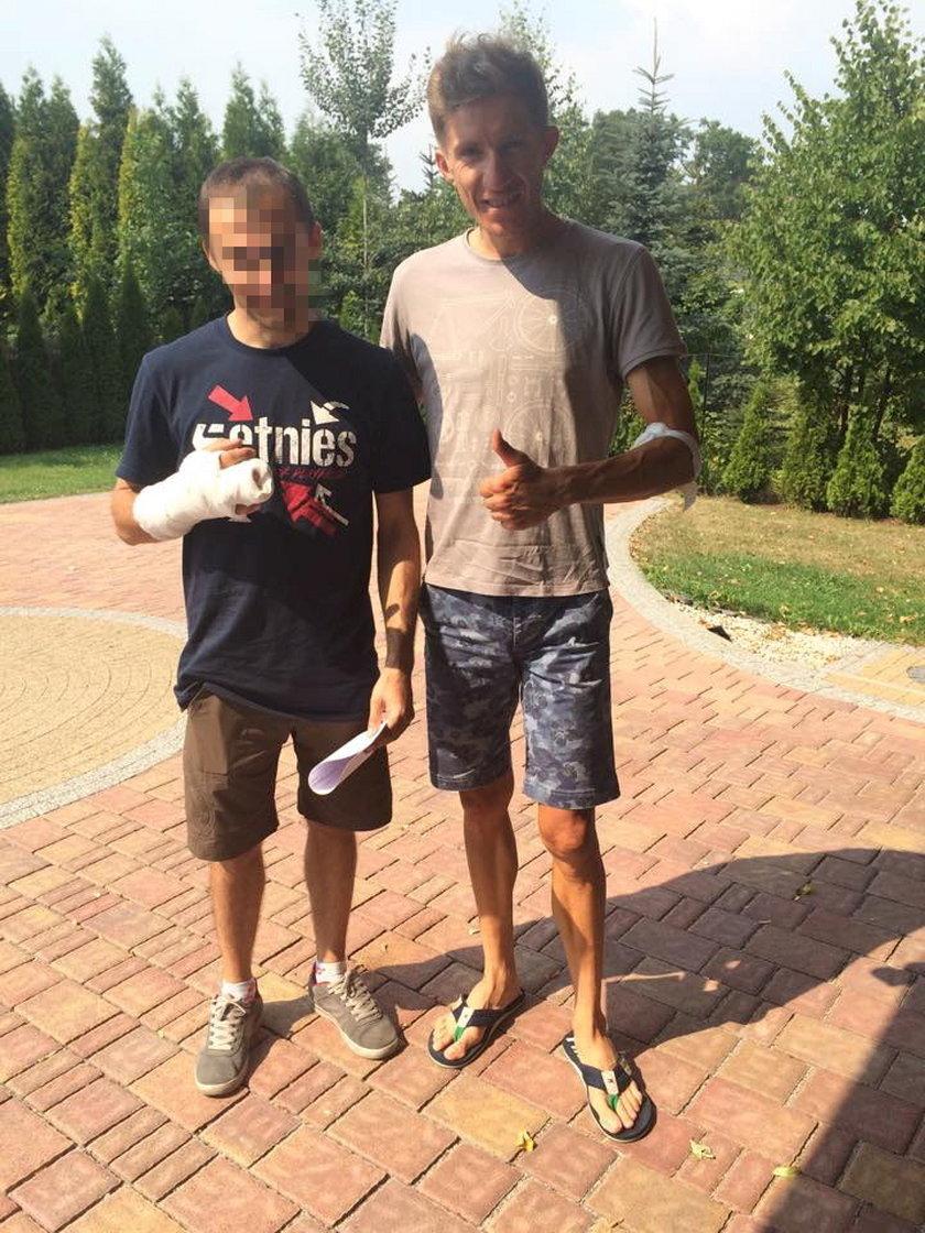 Polski kolarz miał wypadek! Przeleciał przez maskę na treningu