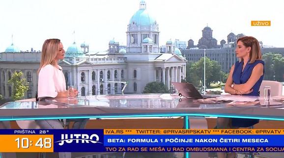 Jovana Joksimović ovog jutra u emisiji