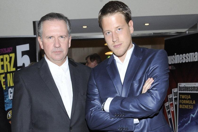 Tomasz Stockinger z synem Robertem