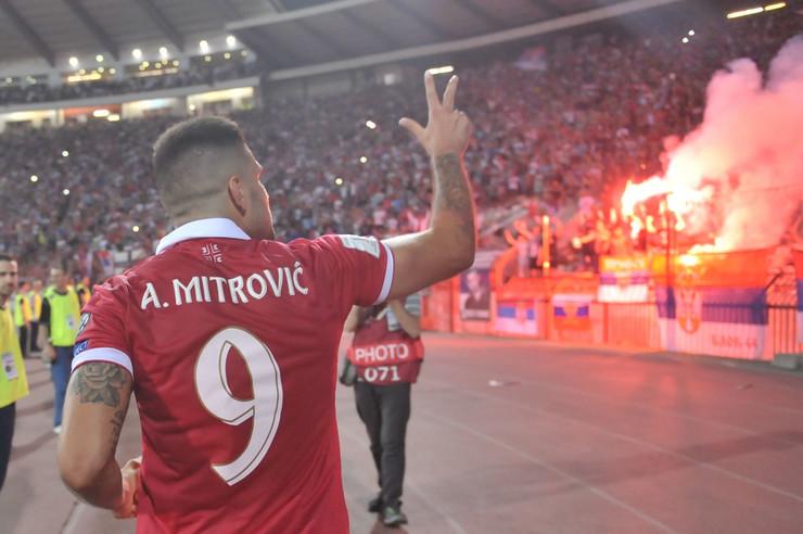 Srbija - Vels, Aleksandar Mitrović, Aleksandar Prijović