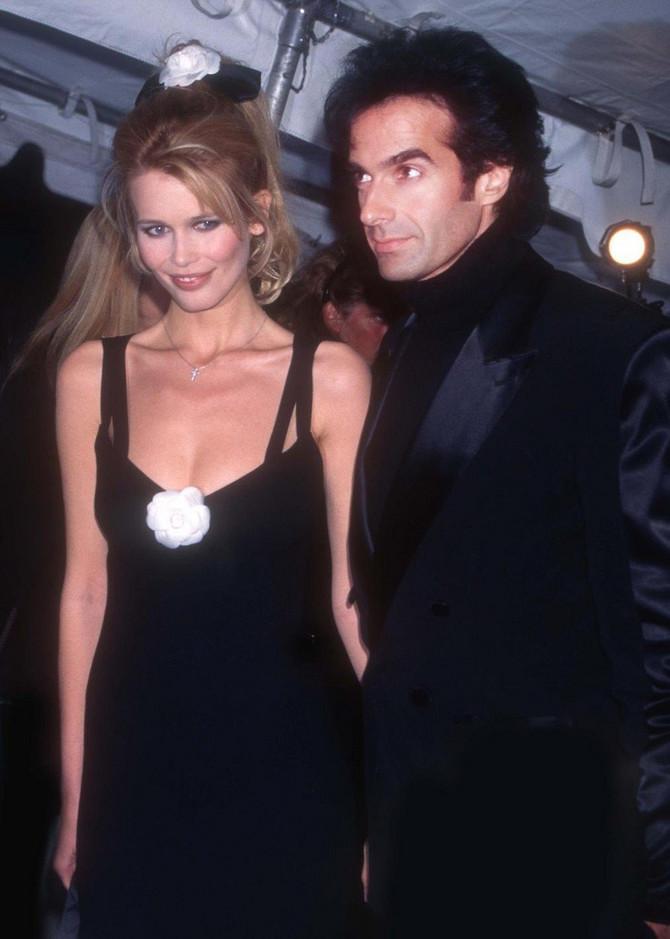 Klaudija Šifer i Dejvid Koperfild 1995. godine