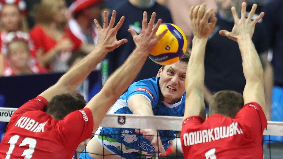W meczu Polska - Słowenia w ME siatkarzy nie brakowało emocji, ale też kontrowersji. W ataku Toncek Stern