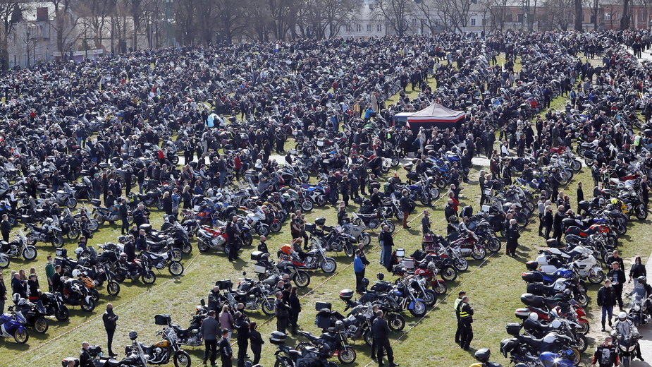 Częstochowa: Motocykliści z całej Polski przybyli w niedzielę na Jasną Górę
