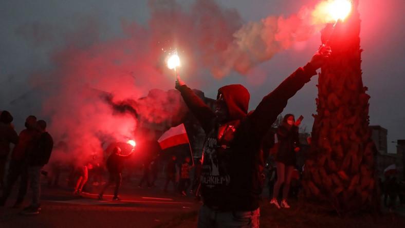 Uczestnicy Marszu Niepodległości w Warszawie